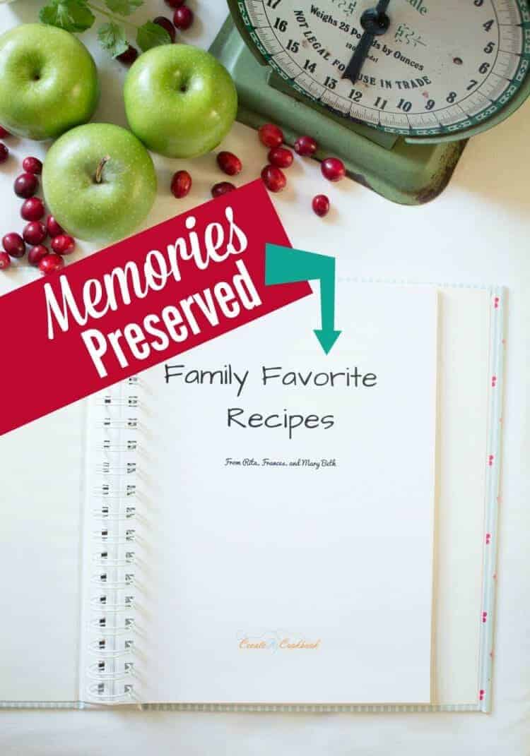 How to preserve family recipes with your own cookbook