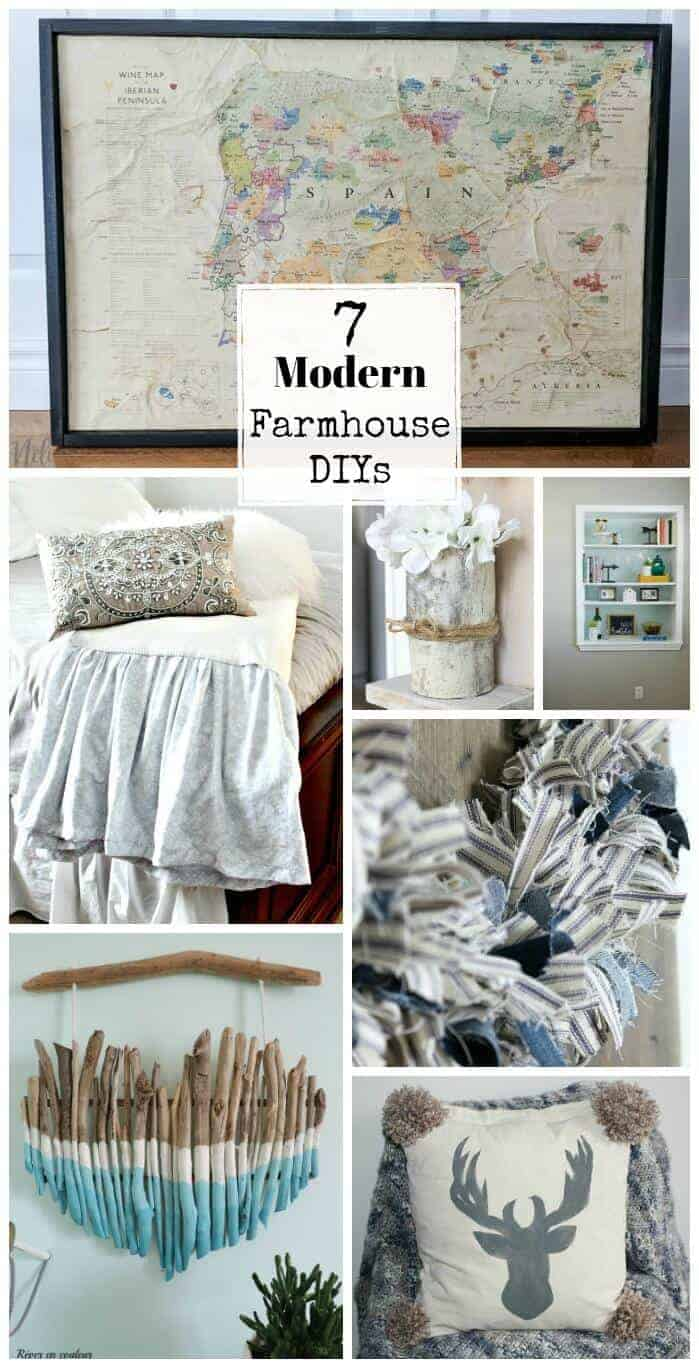 It's easy to create your own modern farmhouse decor on a budget with these 7 gorgeous and easy DIY projects that will give your home that fixer-upper look.