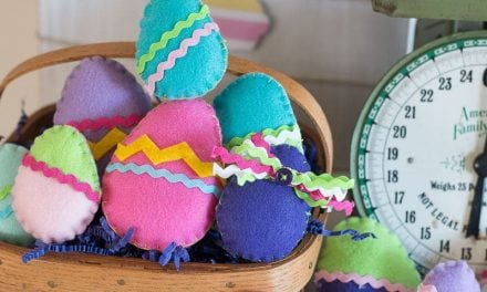 How To Make Colorful Felt Easter Eggs