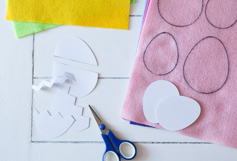 How To Make Colorful Felt Easter Eggs | The How-To Home