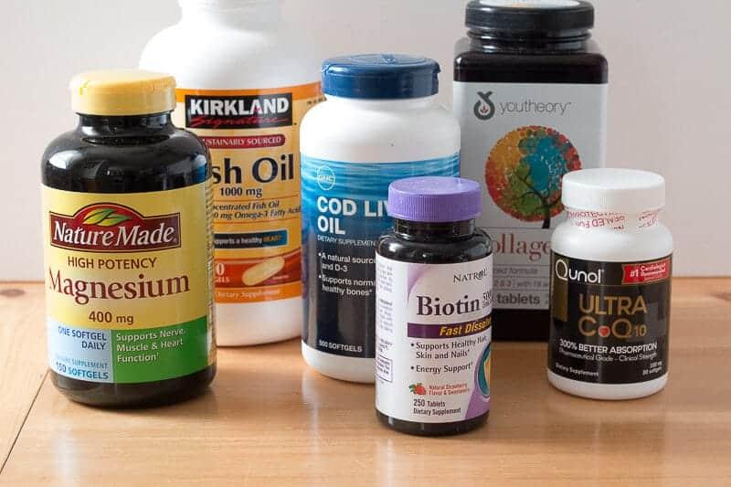 Bottles of vitamins
