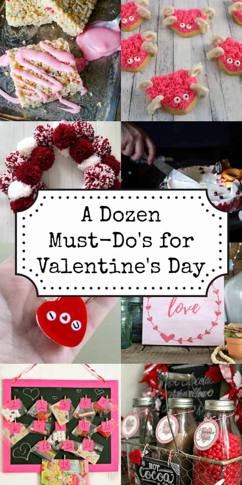 12 fun how to and must do's for Valentine's Day. Everything from cookies to wreaths, to kids crafts - a one-stop collection for Valentine's Day ideas and inspiration.