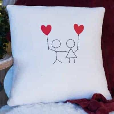 You and Me - Sweet and Simple Heart Pillow