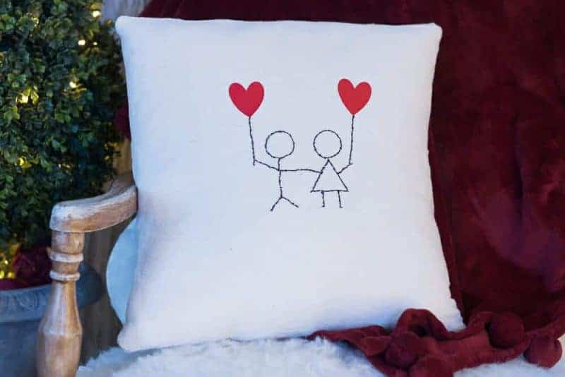 You and Me – Sweet and Simple Heart Pillow