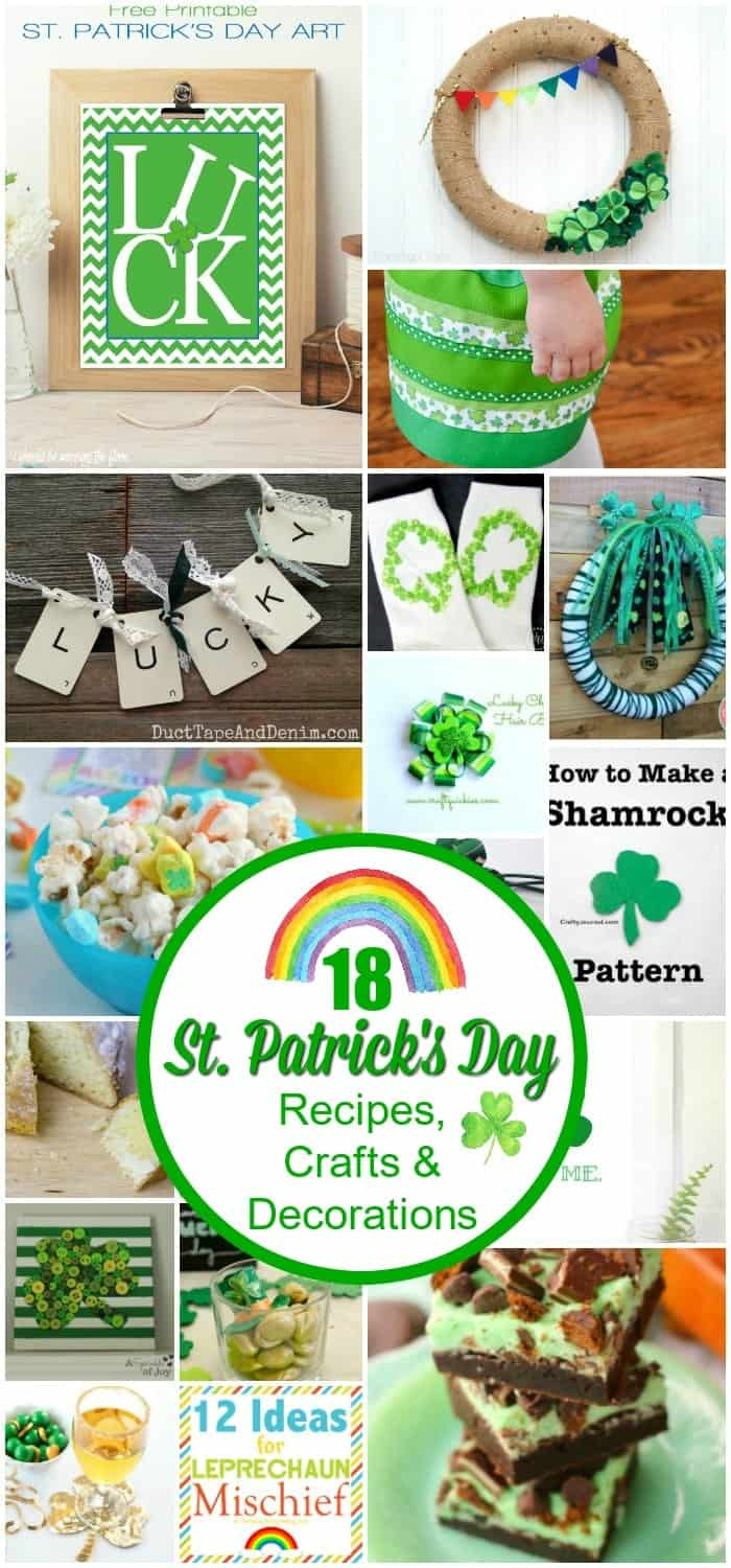 easy trail paper patricks decorations patty st pattern shamrock day s decor patrick decoration ombre idea design printable