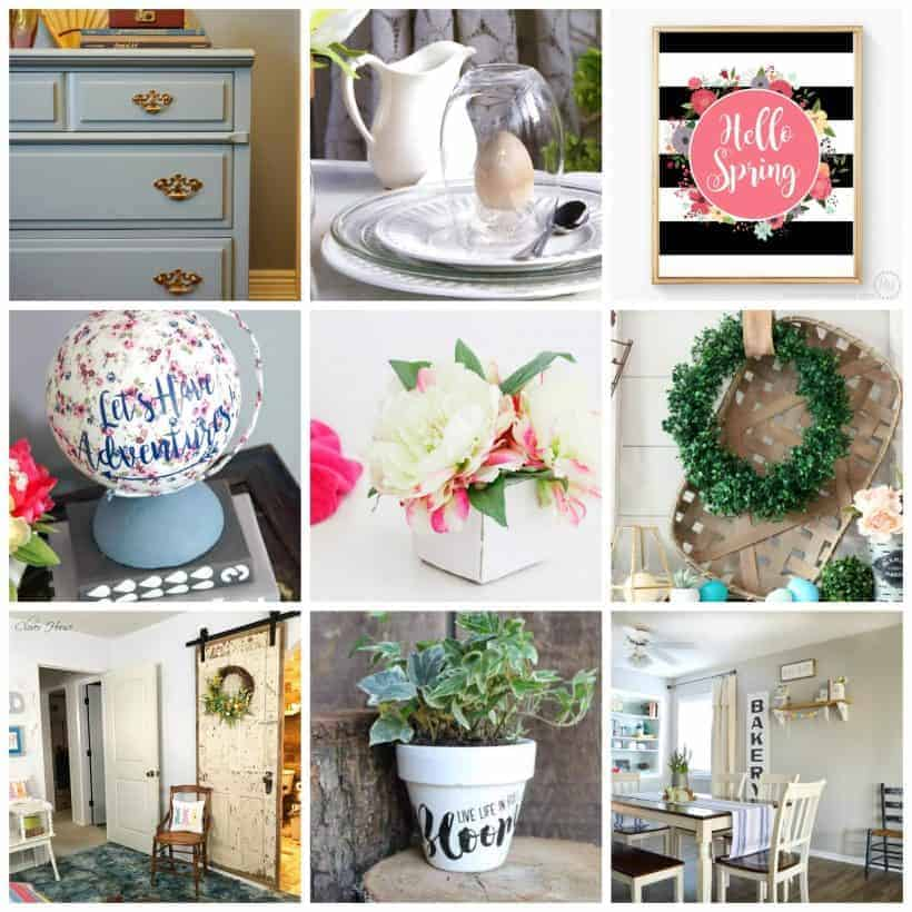 Collage of 12 beautiful modern farmhouse decor ideas