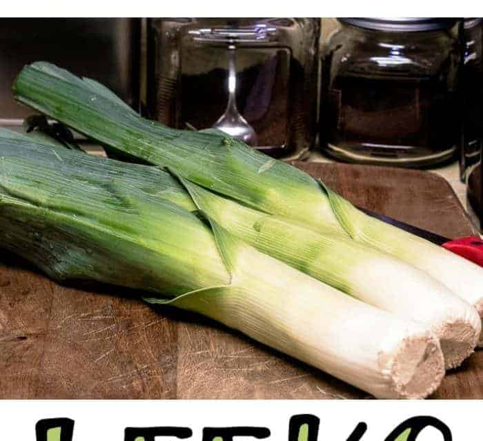 How-To Clean and Slice Leeks