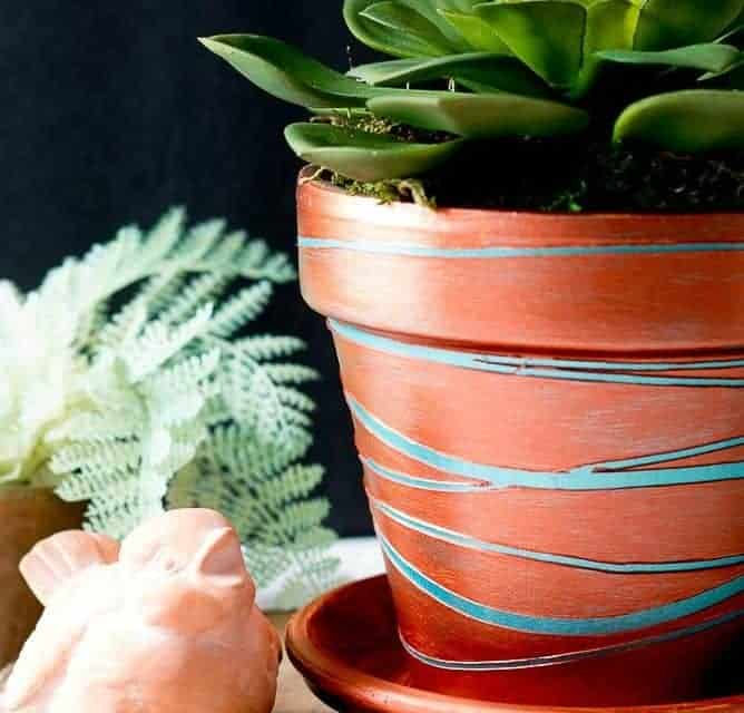 How To Make a Copper Planter from a Clay Pot