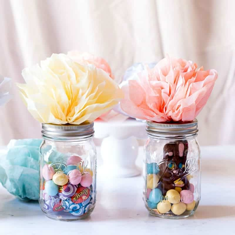 How To Make Mason Jar Easter Baskets