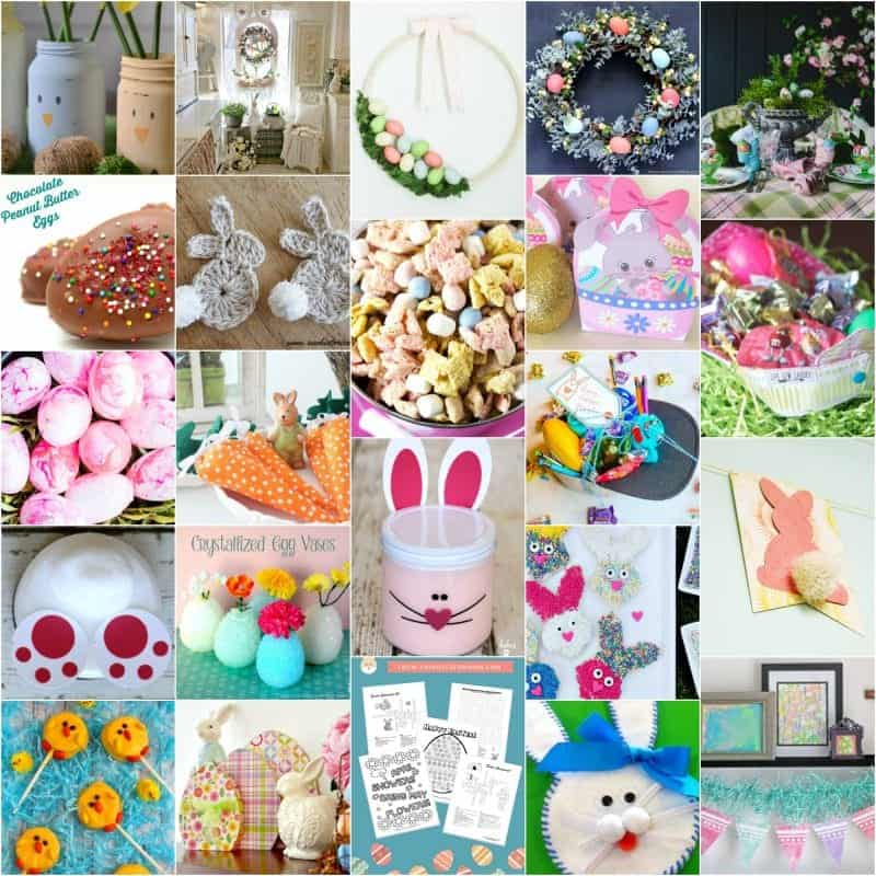 Square collage of over 20 Easter Ideas