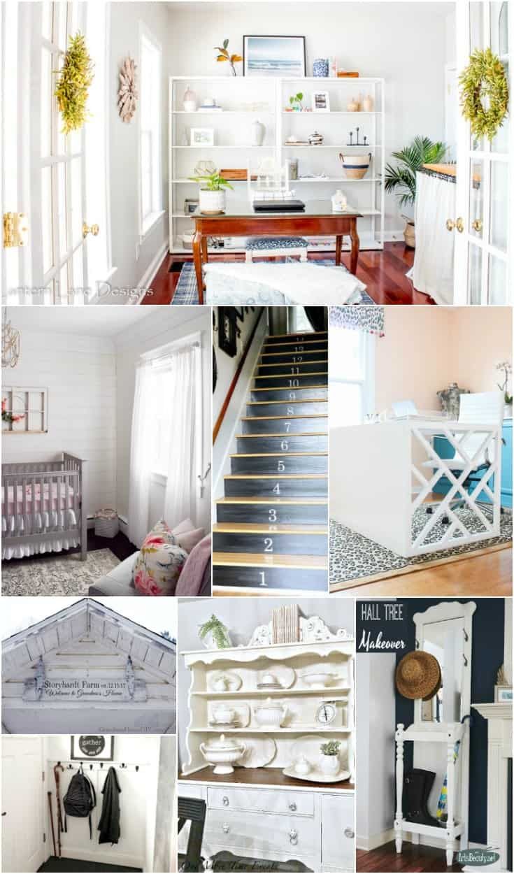 Long collage of black and white decor ideas for the home