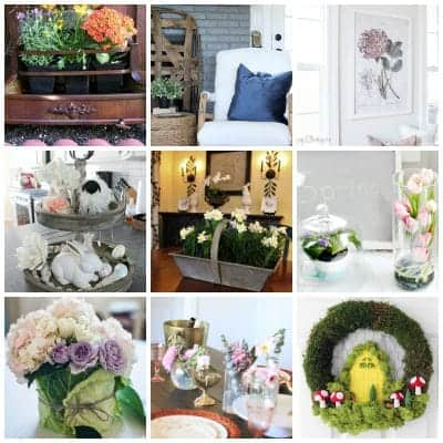 collage of 12 spring decor ideas