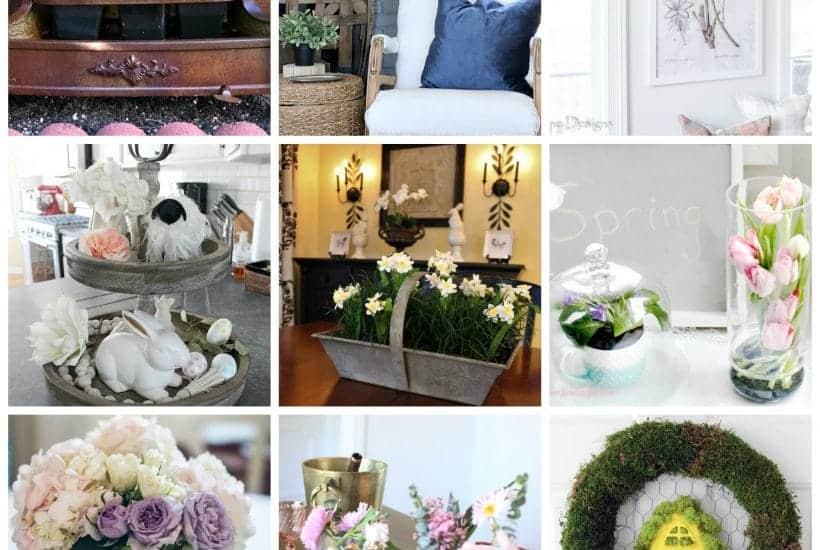 collage of 12 spring decor ideas