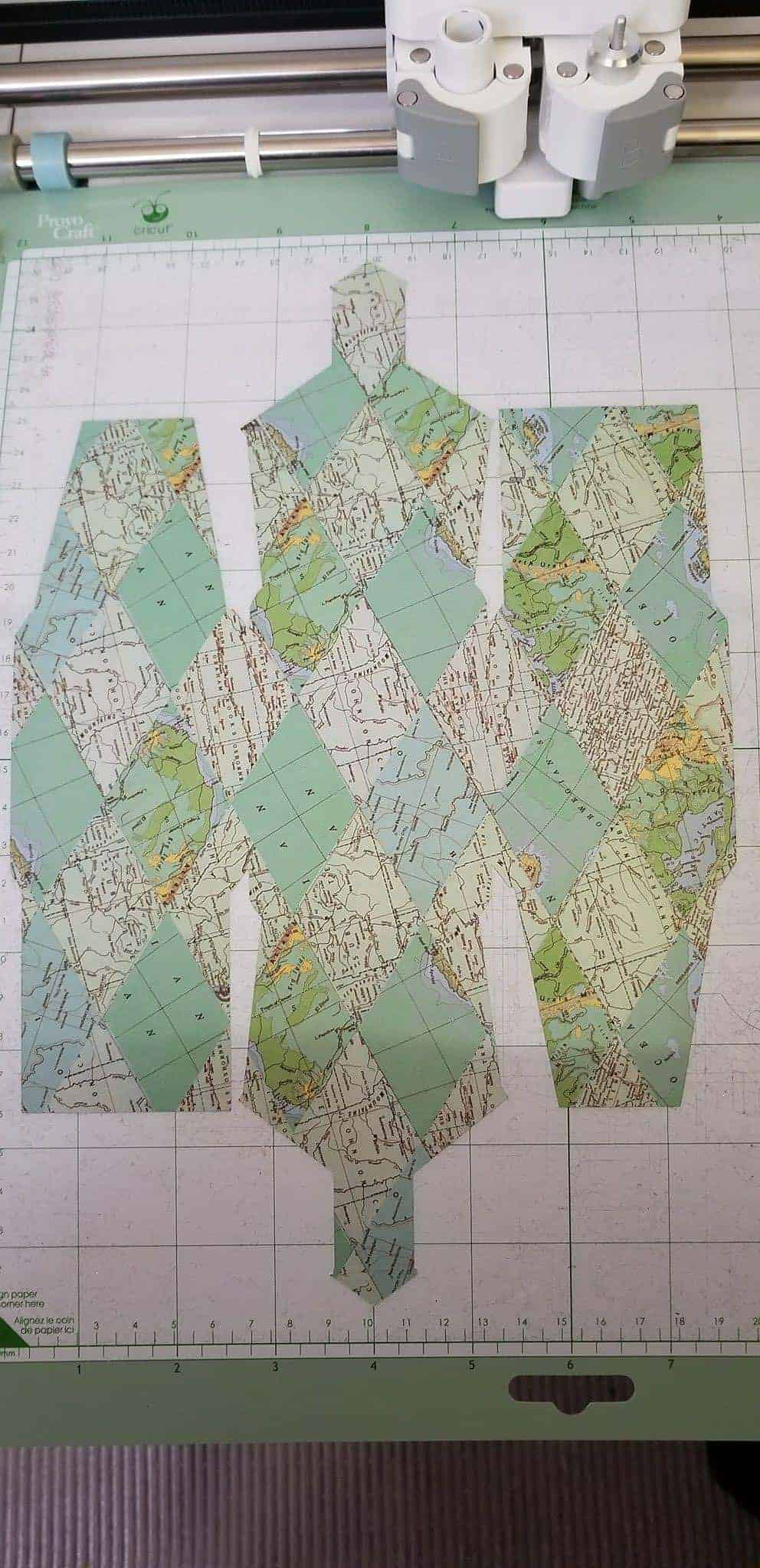 Teacher Appreciation Gift Ideas how-to - map print schoolhouse cutout made with cricut