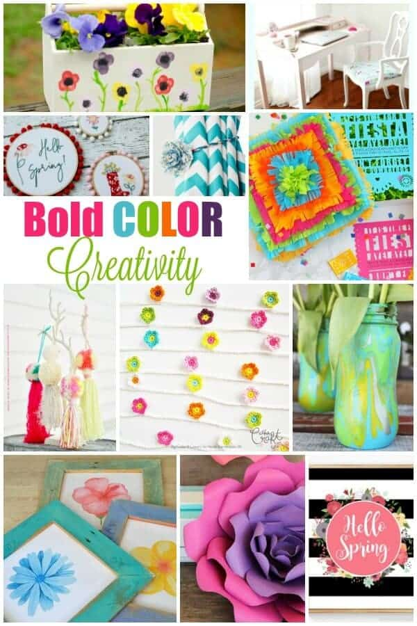 Collage of Inspiration - Creative Ways to Decorate with Bold Colors