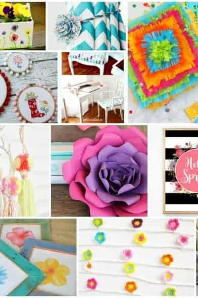 square collage of creative, bold and colorful craft and DIY's