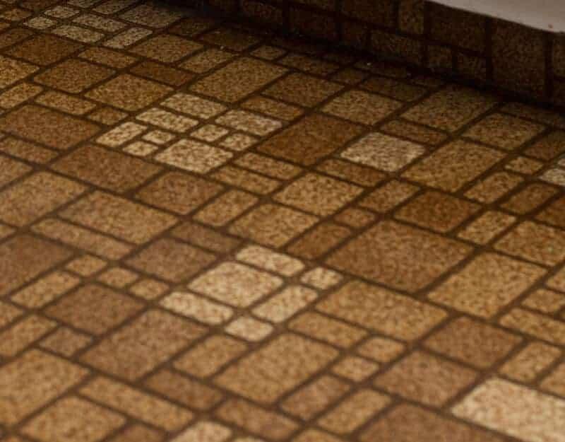 close up of floor with crumbs