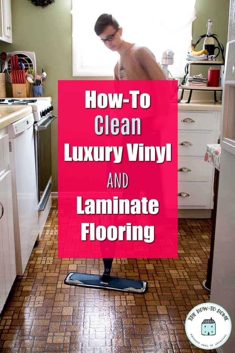 Pinterest image of cleaning floor with a Bona