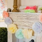 How To Make a Coffee Filter Pom Pom Garland