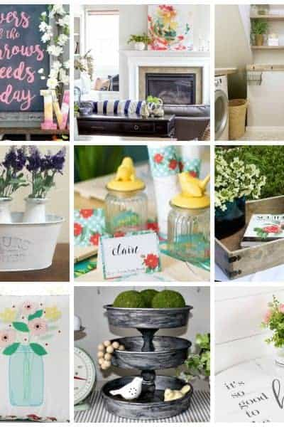 square collage of 12 modern farmhouse touches for spring