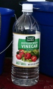 Bottle of vinegar from Aldi's