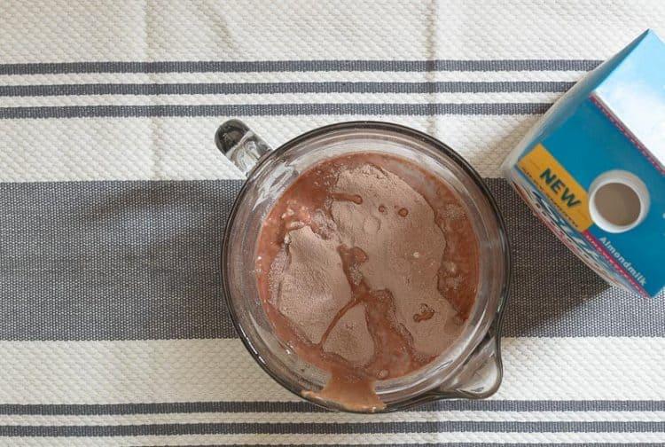 Chocolate Chip Cookie Dough Protein Bites - almond milk