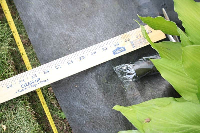 landscape fabric and ruler