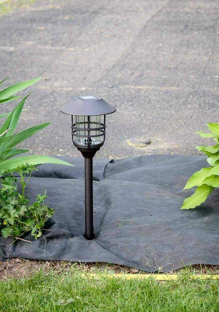 Solar garden light in ground