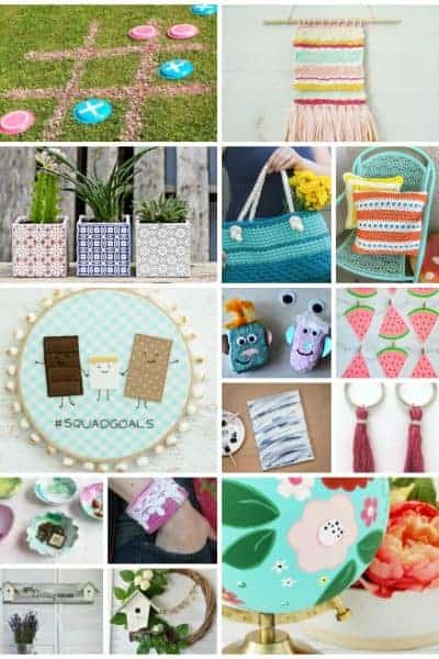 collage of 15 fun summer DIYs