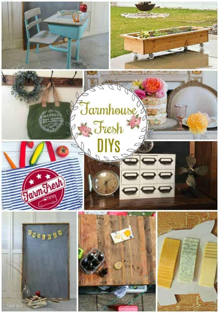 Collage of nine different farmhouse decor ideas