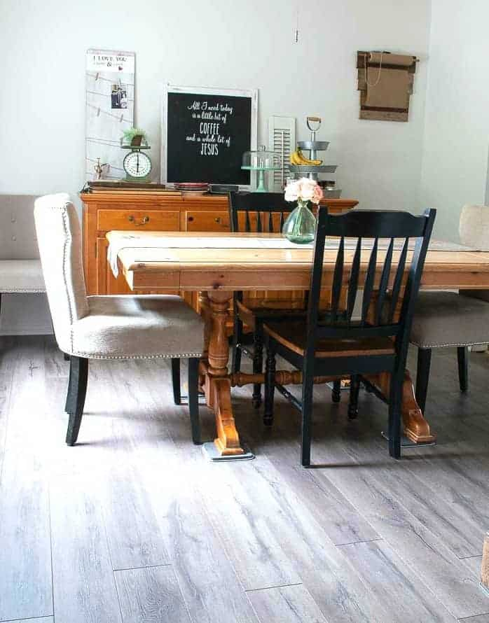 Gray Farmhouse Plank Flooring DIY - complete