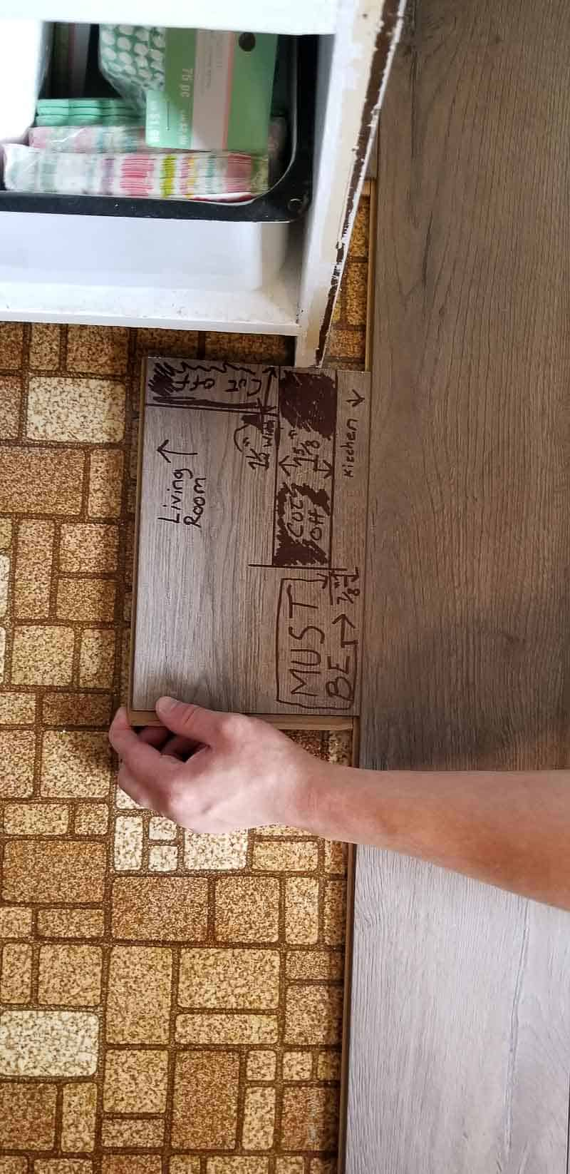 template for floor cuts for farmhouse plank flooring