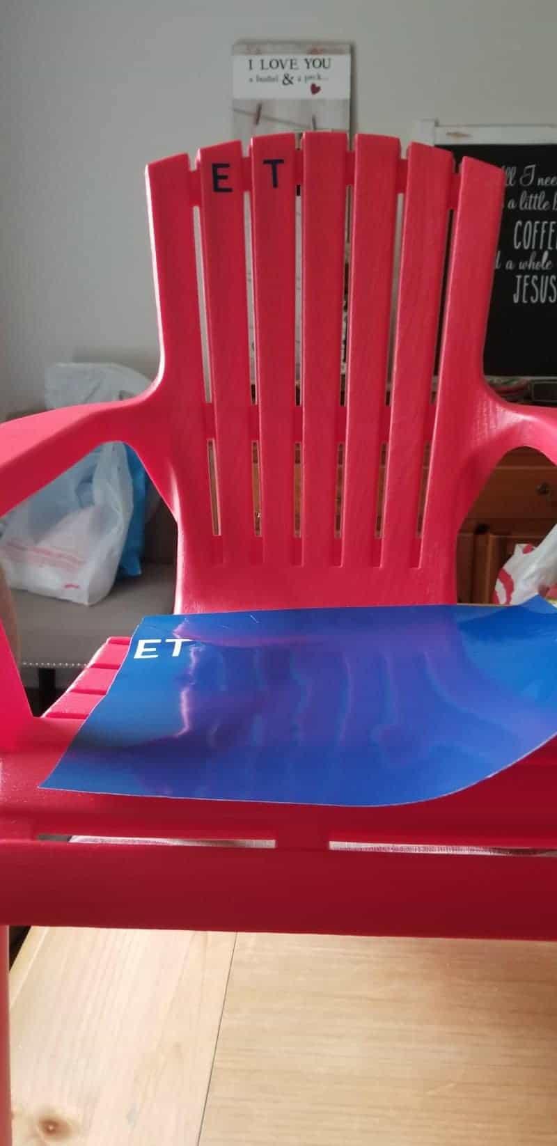 Red Plastic Child's Adirondack Chair