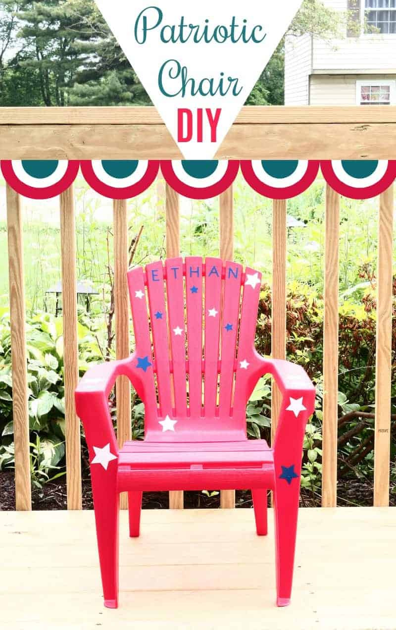 Patriotic Cricut Craft Toddler Chair The How To Home