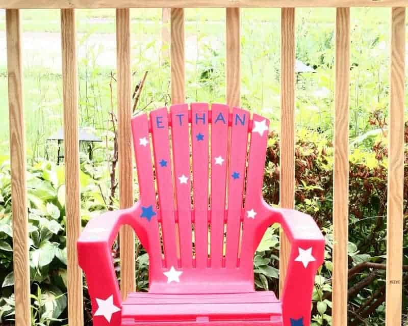 Patriotic Cricut Craft -Toddler Chair
