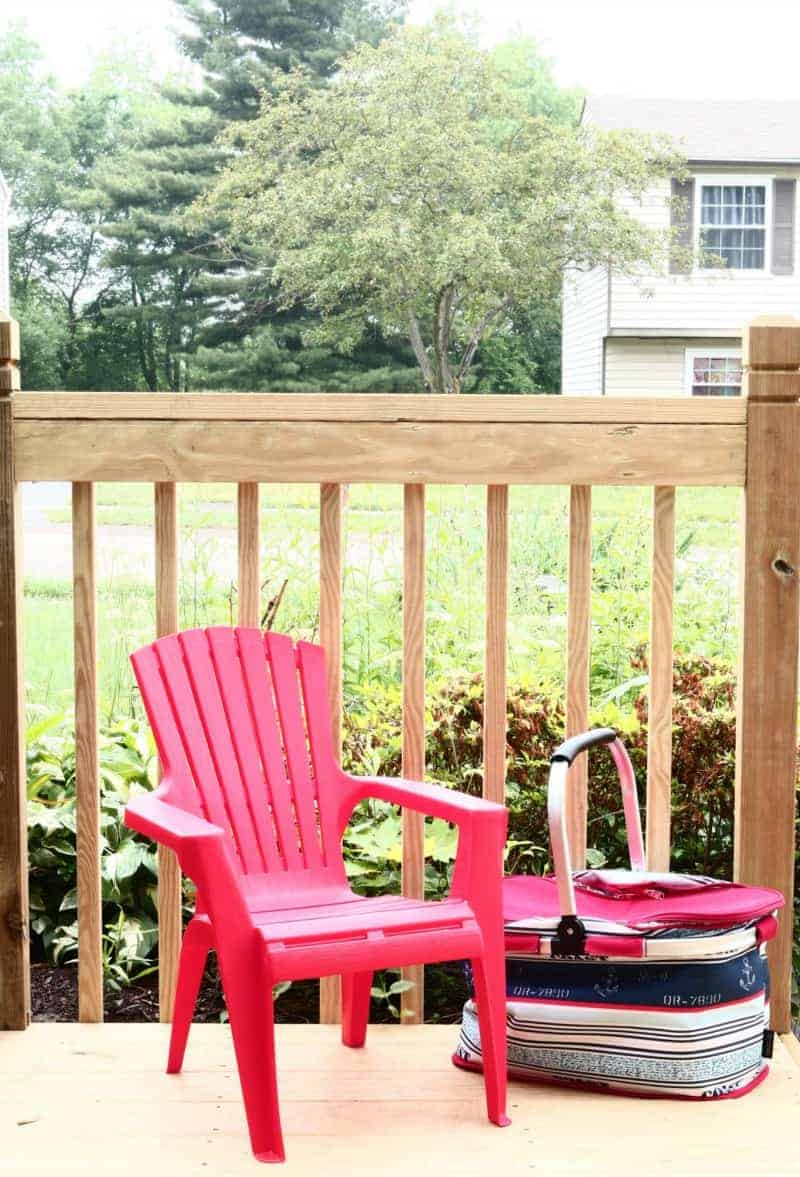Child's Red Adirondack Chair from Target
