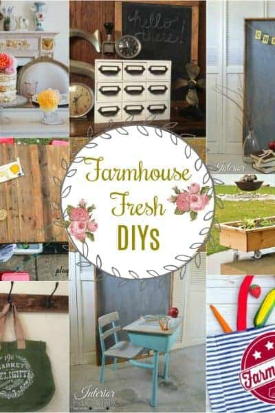 Collage of nine different farmhouse decor ideas