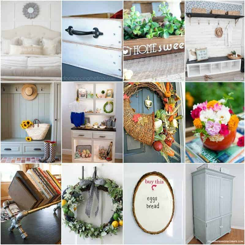 square collage of 12 home decor ideas on a budget