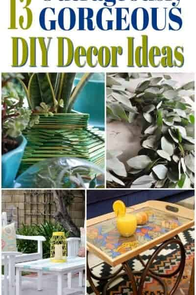 collage of 13 DIY decor ideas for the home