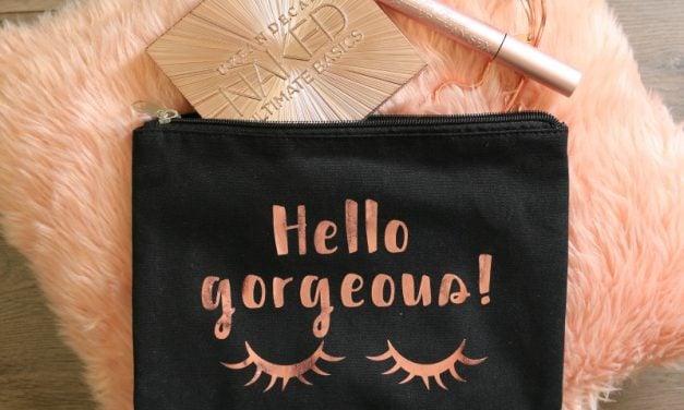 Hello Gorgeous Makeup Bag and Printable