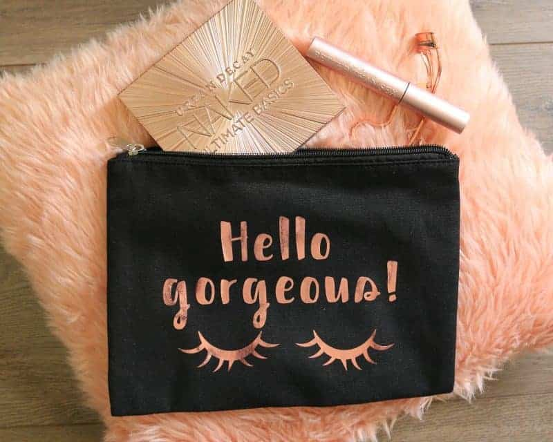 Hello Gorgeous Makeup Bag and Printable