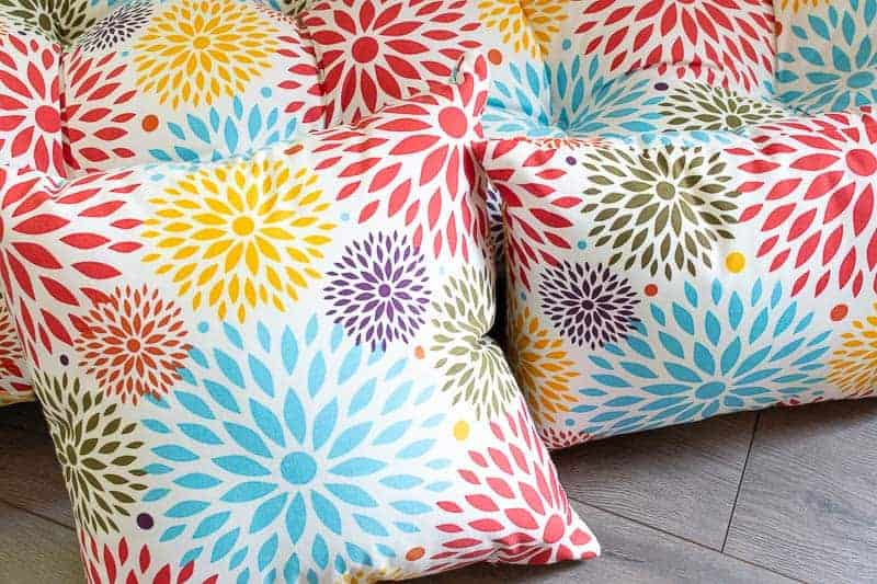 Colorful outdoor cushions from At Home