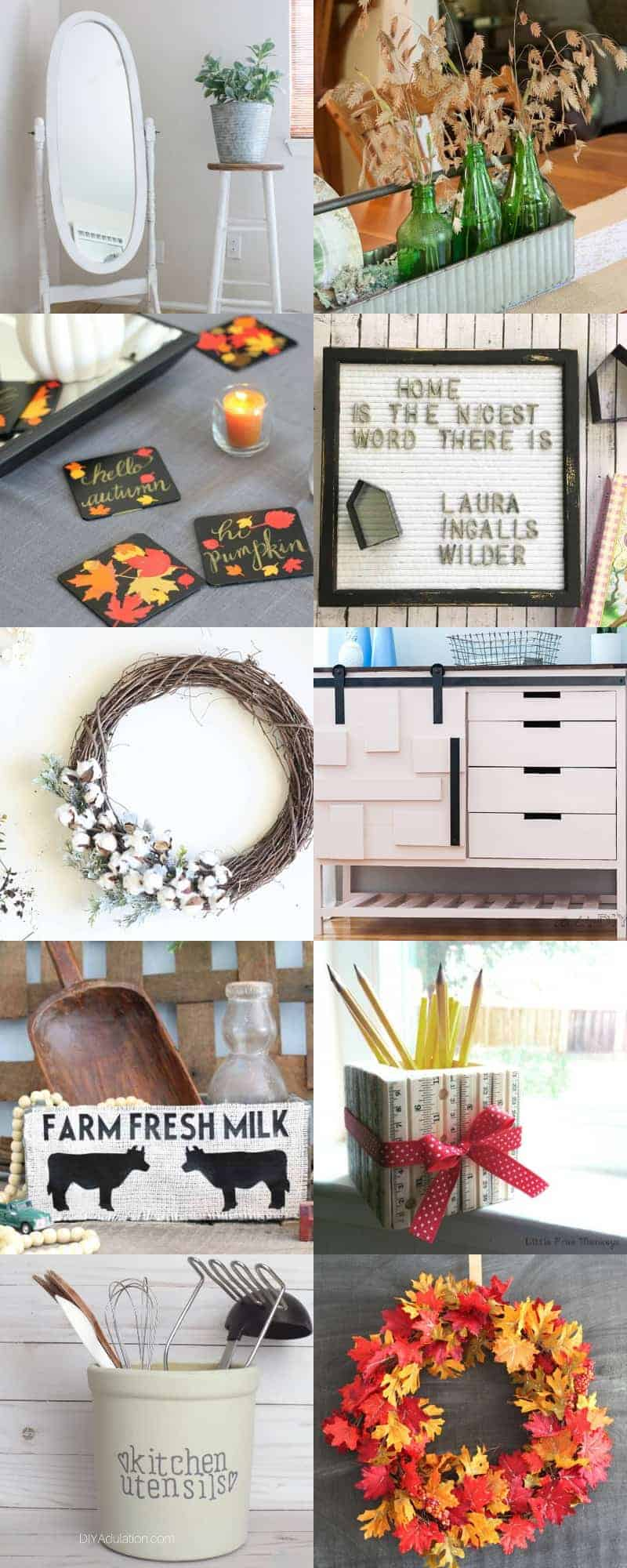 long collage of farmhouse and fixer upper style home decor ideas