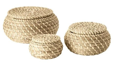 set of 3 seagrass storage baskets from Ikea