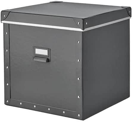 grey storage box from Ikea