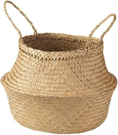seagrass basket with handles from Ikea