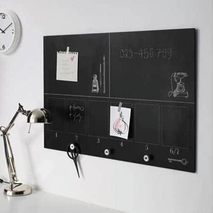 chalkboard organizer from Ikea