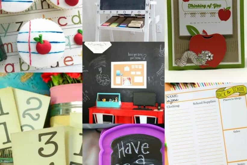 collage of 7 photos of back-to-school related ideas