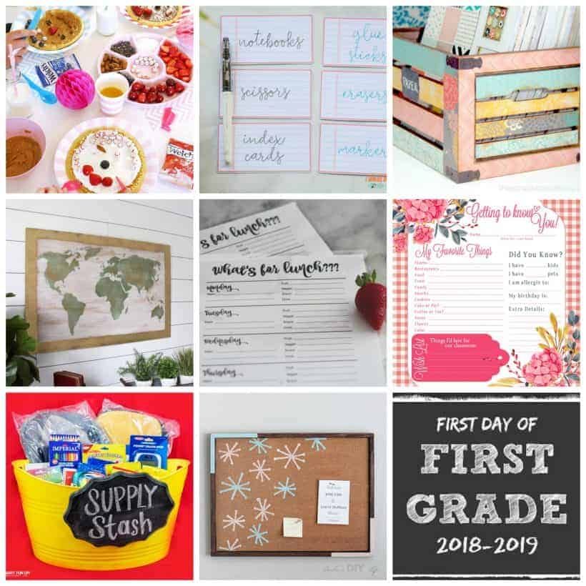 square block of 9 back to school projects