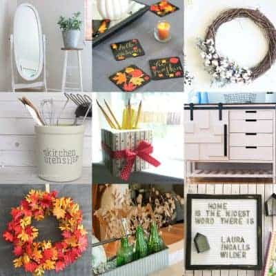 square collage of farmhouse and fixer upper style home decor ideas